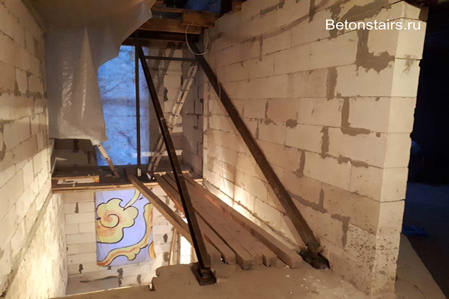 Металлический каркас лестницы в городе Чехов